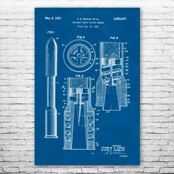 Rocket Nozzle Poster Print Laboratory Wall All Rocketry Gift Military Decor