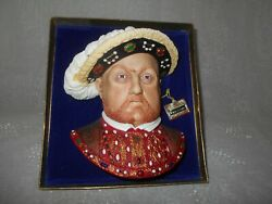 Bossonand039s King Hernry Viii Bust Made Of Chalk And Mounted In Display Box With Easel