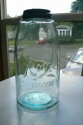 Ext Rare 1902 First Root Mason Fruit Jar Made Mouth Blown C On Bottom Of Jar