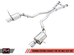 Awe Touring Edition Exhaust System Chrome Silver Tips For 14-21 Grand Cherokee