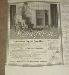 1916 Magazine Ad === James Manoil Co - Manophone Phonograph 16-4a