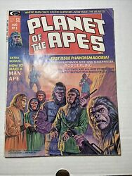 Planet Of The Apes 1 Fn- 1st Magazine Issue From 1974 On Curtis