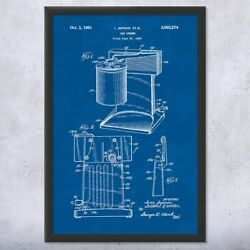 Framed Electric Can Opener Wall Art Print Culinary Gifts Kitchen Decor Chef Gift