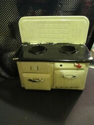 Vintage Tin Metal Friction Stove Toy Doll House Antiquedbp Angw.germany1940s