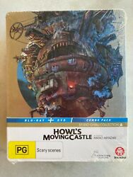 Howl's Moving Castle Limited Edition Steelbook Blu Ray / Dvd Sealed Rare