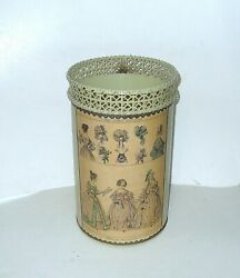 Antique Style Metal Trash Can Victorian Style The Beau Monde Hat Dresses Pattern