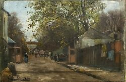 Painting Antique Charles Charlay-pompon 1836-1904 - Paris The Butte The Quail