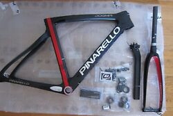 Authentic New Pinarello Dogma F8 Frame Set 50 Cm Black Red Never Assembled