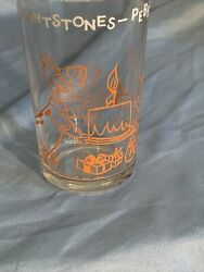 Vintage 1964 The Flintstones Welchand039s Glass Cup Pebbles Birthday Party Jelly Jar