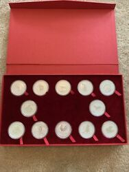 1999-2010 Perth Mint Silver 1oz. Lunar Series 1 Complete Set Perth Mouse To Pig