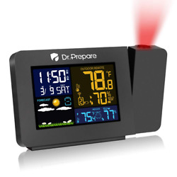 Smartro Sc31B Digital Projection Alarm Clock With Weather Station Indoor Usb Ac