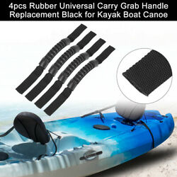 4pcs Rubber Universal Carry Grab Handle Replacement Black For Kayak Boat Canoe