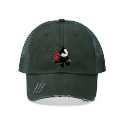 Felix The Cat Unisex Trucker Hat Green Kitty Travel Fashion Style Work Clothes