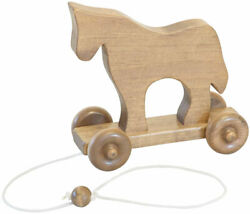 Amish Buggy Toys Wooden Pull Toy Wooden Horse Cpsia Kid Safe Finish