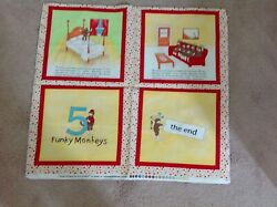 5 Funky Monkeys Jumping on the Bed Panel by Erin Michael for Moda $5.95