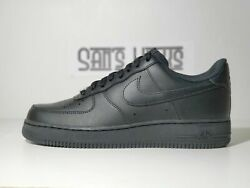 Menand039s Nike Air Force 1 And03907 Triple Black Size 7-16 [cw2288 001]