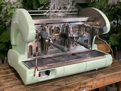 La Pavoni Bar S Lever 2 Group Green Espresso Coffee Machine Commercial Cafe Bar