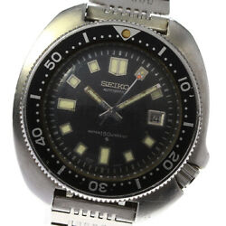 Seiko 6105-8110 Second Diver Antique Black Dial Automatic Menand039s Watch_622542