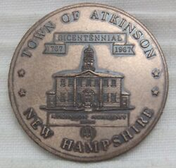 1767-1967 Atkinson New Hampshire 1st State Consider Coinage Copper Penny Medal
