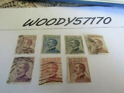 Stamps/stamp Kingdom Italy 1923 - 20, 25, 30, 40, 50, 60 And 85 Cent