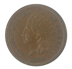 1864-p L On Ribbon Indian Head Cent Au About Uncirculated Jo/1190