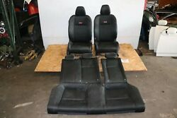 Usdm 2012 Honda Civic Si Oem Front And Rear Cloth Seats W/ Red Stitching