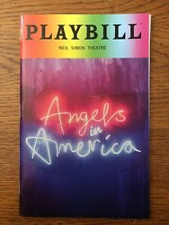 Angels In America Pride Playbill - Nathan Lane Andrew Garfield Lee Pace