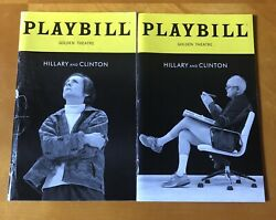 Hillary And Clinton Broadway Playbill Lot Laurie Metcalf John Lithgow