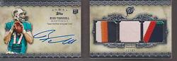 Ryan Tannehill Rc Topps Five Star Auto Triple Jersey Titans Booklet 17/42 1 Of 1