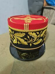 French Military Army Generals Officers Visor Hat Cap Kepi