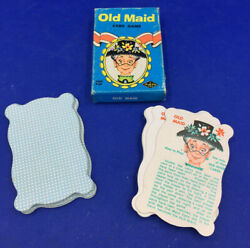 Vintage Old Maid Card Game Shaped Cards Built Rite Toy – Complete Set