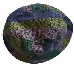 Vintage Emilio Pucci 100% Wool Geometric Bucket Women Hat Size S M Made in Italy $159.99
