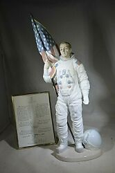 Lladro Apollo Landing Buzz Aldrin Signed One Giant Leap For Mankind Autograph