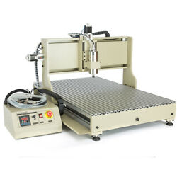 Usb 3/4axis Cnc 6090z Router Engraver Wood Milling Machine Cutting 1.5kw / 2.2kw