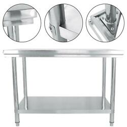Household Stainless Steel Food Prep Commercial Grade Worktable 47x34x24