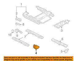 Ford Oem Seat Track-support Right 7e5z5461708a