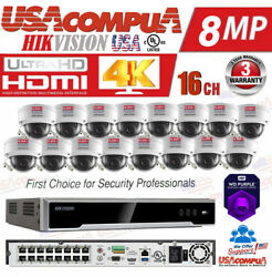 Hikvision Security System Kit 4k-uhd Nvr 16ch Poe 4mp H265+ Hdd Optional For Usa