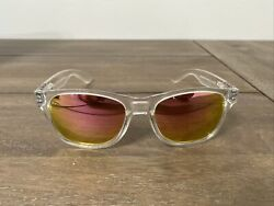 BLENDERS ICE PALACE Clear Crystal Frame Pink Mirror Lens Sunglasses Scratch