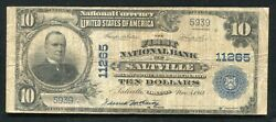 1902 10 The First National Bank Of Saltville Va National Currency Ch. 11265