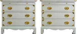 1970s Chinoiserie Style Tables By Century Furniture Newly Painted - A Pair