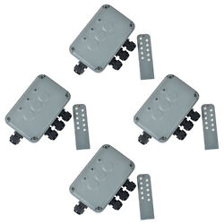 4 Packs Remote Controll 3 Gang Switch Box Ip66 Weatherproof Remote Power Switch