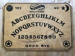 Rare Antique 1919 And 1960s Version Mystifying Oracle Ouija Board W/ 2 Planchette