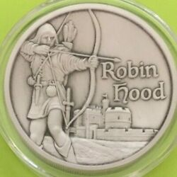 Robin Hood Antique 2 Troy Ounce Fine .999 Silver Round In Capsule