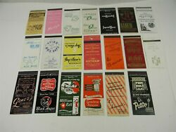 Vintage Chicago Cocktail Clubs Restraunts Matchcover Lot Of 20- 18 - 2a