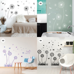 Dandelion Wall Art Stickers Wall Decals Graphic Nursery Home DIY Floral Stickers