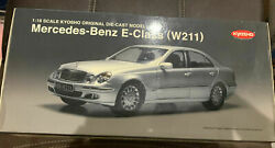 Kyosho Mercedes Benz E Class W211 1/18 Scale Die-cast Toy Car Silver - Brand New