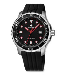 Swiza Wat.0461.1003 Swiss Made Model Thetis Man In Steel And Rubber Gent