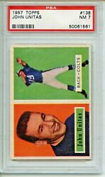 1957 Topps 138 Johnny Unitas Rookie Card Psa 7 Baltimore Colts
