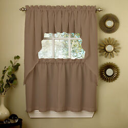 Lorraine Home Fashions Ribcord Window Curtain Tailored Valance 54 X 12 Taupe