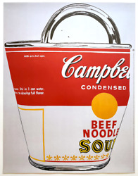 Andy Warhol Foundation Rare 1993 Lithograph Print Poster Campbells Soup Can 1962